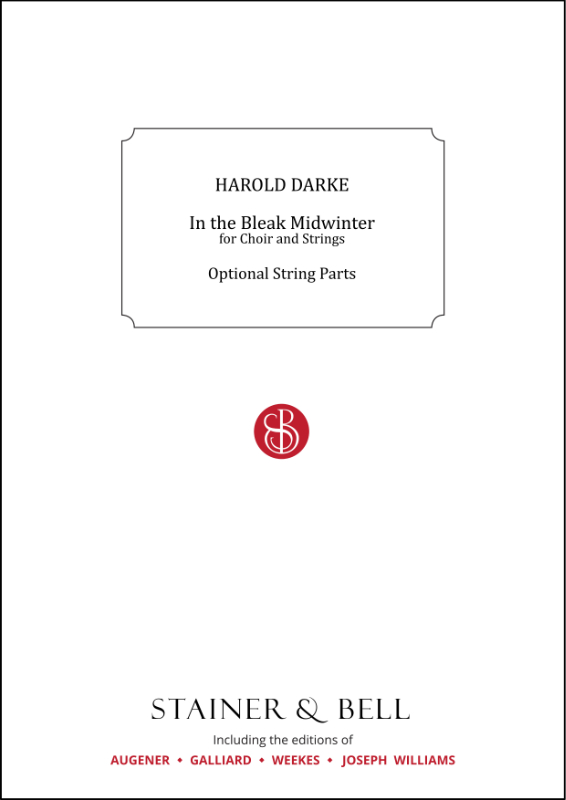 Darke, Harold: In The Bleak Midwinter. Optional String Parts
