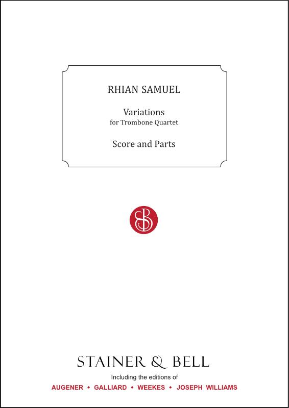 Samuel, Rhian: Variations For Trombone Quartet