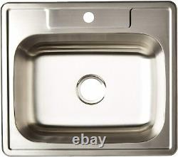 zuhne drop in stainless steel single bowl kitchen bar and laundry utility sink