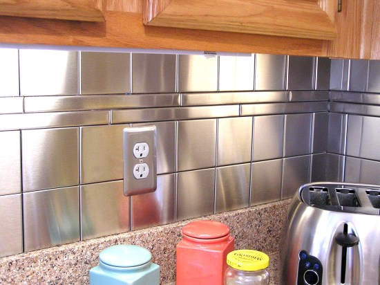 Stainless Steel Backsplash 1x12