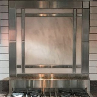 1 X 12 Stainless Steel Backsplash Project M8 1