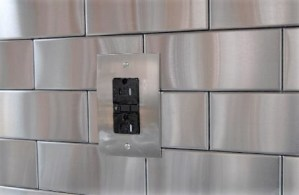 2.5x6 Accent Woven Stainless Steel Backsplash Project L1 1