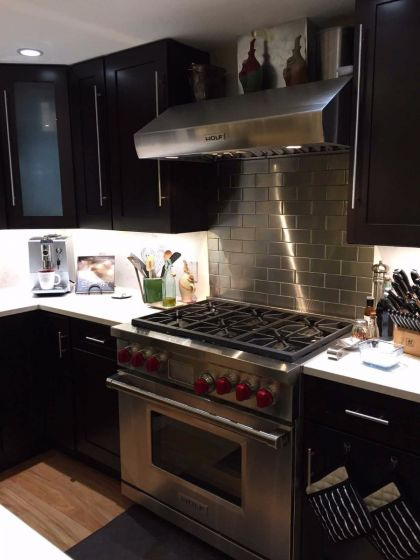 2.5″x 6″ stainless steel subway tile