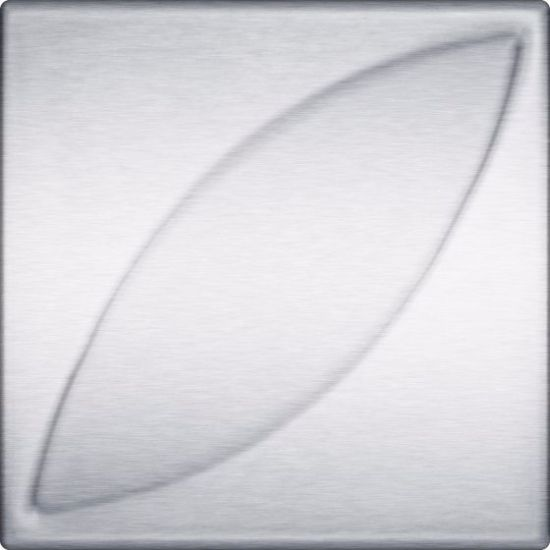 """4"""" x 4"""" Accent Leaf 3D Stainless Steel Tiles"""