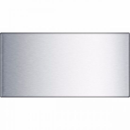 """4""""x8"""" Accent Woven 3D Wave Stainless Steel Tile"""