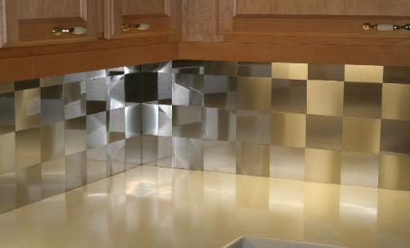 4x4 Stainless Steel Backsplash Project M7