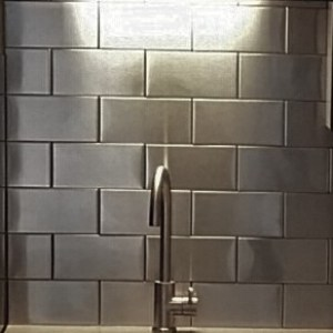 4x8 Stainless Steel Subway Tile Backsplash