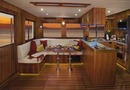 North Pacific Yachts 49 Pilothouse Interior