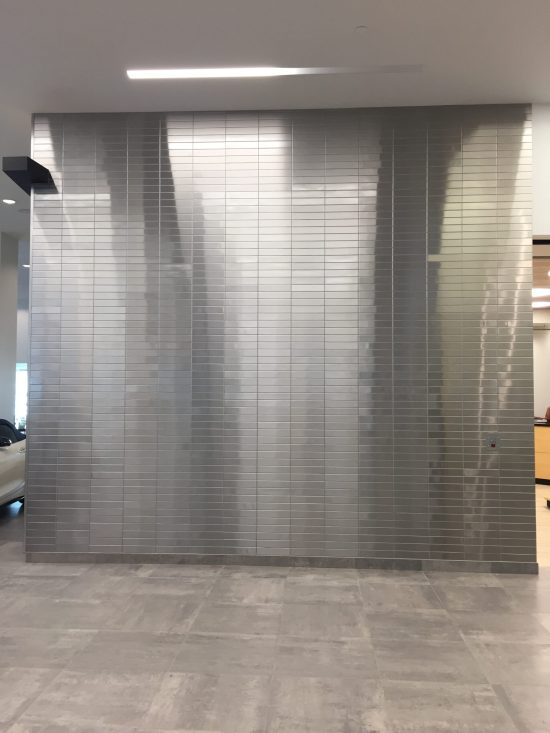 Stainless Steel Tile Mercedes Dealership 7