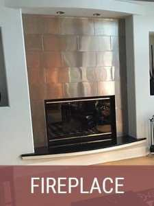Metal Fireplace Accents and Surrounds