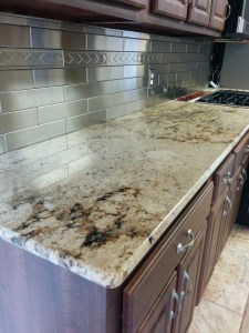 Stainless Steel Tile backsplash with a kitchen remodel