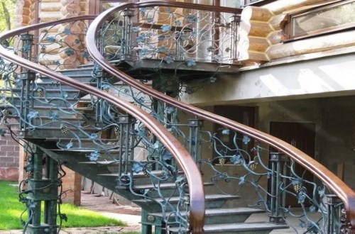 Beautiful outdoor staircase