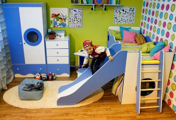 """Bed model """"Sailor"""" with slide"""