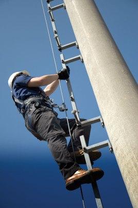 building ladder tie off point