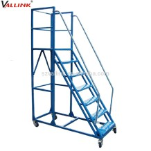 warehouse ladders with handrails