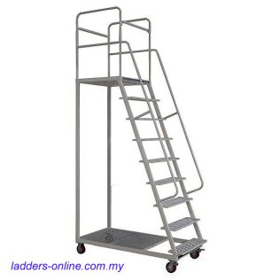 warehouse ladders with platform