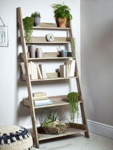 wooden ladder bookshelf
