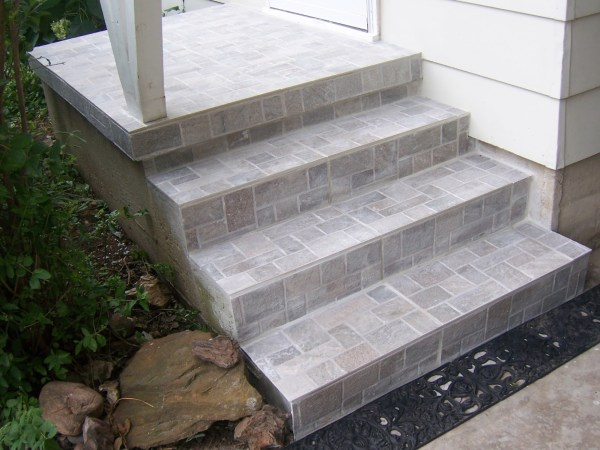 concrete stair steps