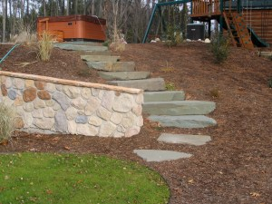 how to build a stone staircase