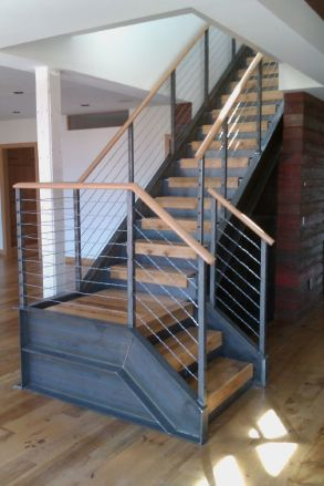 industrial metal stairs design