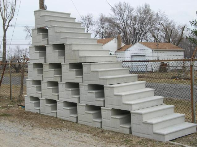 pre made concrete steps