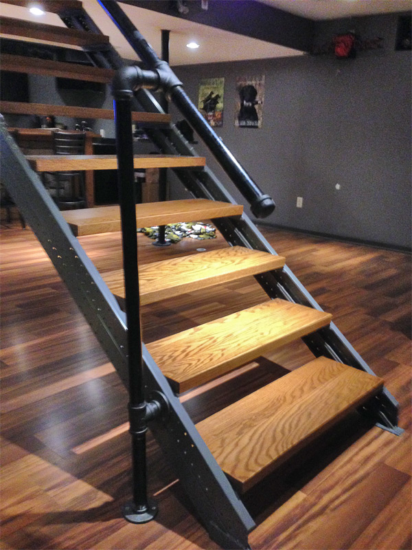 premade wooden stairs