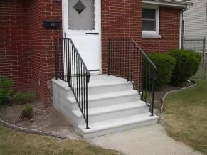 single concrete steps