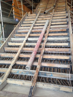 steel formwork for concrete stairs