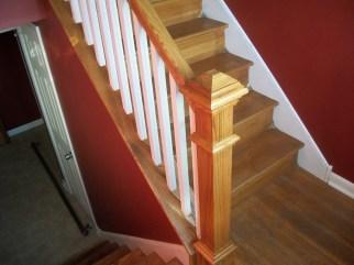 wood stair railing