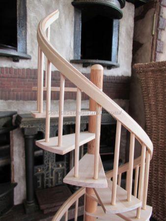 wooden spiral staircase