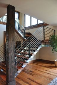 horizontal wood and iron stairs design_6