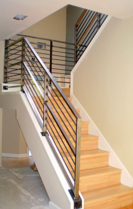 modern metal handrails for stairs