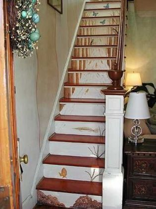 painting wooden stairs ideas_53