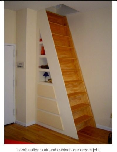 best 25 attic access ladder ideas on pinterest stair ladder Permanent Attic Stairs
