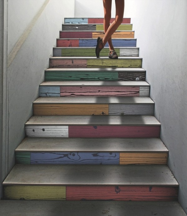 Creativity in the decoration of steps