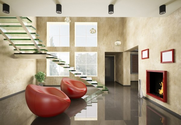glass beauty staircase design