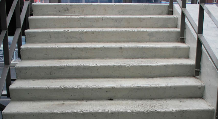 Repair of the concrete staircases