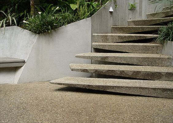 formal concrete stairs ideas_5
