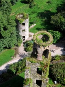 1519376-aerial-view-of-two-of-blarney-castles-towers-and-the-lush-green-surroundings