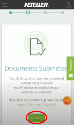 Documents are submitted