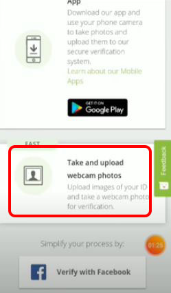 Click Take and Upload photos