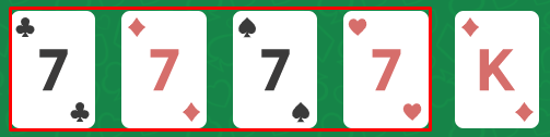four of kind - มือใหม่ Poker