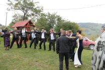 Getting in some dancing before the ceremony starts for Alina's wedding