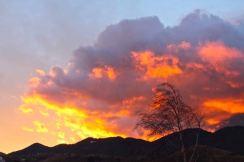 Encroaching doom appears as a hellish sunset over Piatra Craiului