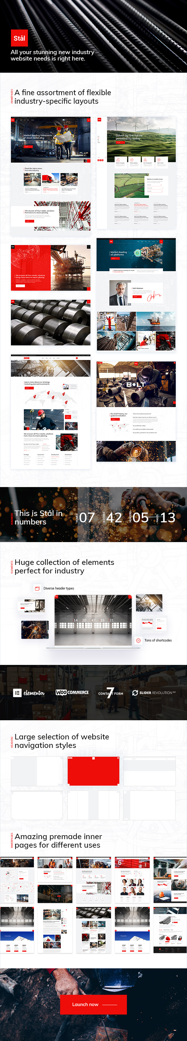 Stål - Industry WordPress Theme - 1