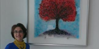 Eva Edery_tree of life wall glass art commission_2013