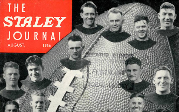 Staley Journal August 1956 cover featuring Staley's Bears 1920-2921