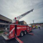 presentation d'un vehicule de pompiers lors d?une journee de sensibilisation à Beauceville