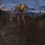 Кровосос ищет жертву на поле боя сталкер