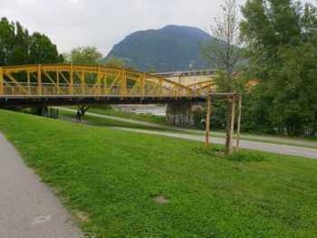 Il luogo della violenza sessuale ai danni di una 15enne a Bolzano, confluenza Talvera-Isarco